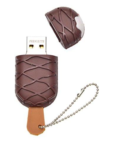 Febniscte 16gb pen drive novità gelato al cioccolato chiavette usb 2.0 regalo