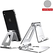 Desktop Cell Phone Stand [Updated Solid Version], Advanced 4mm Thickness Aluminum Stand Holder for Switch, Mob