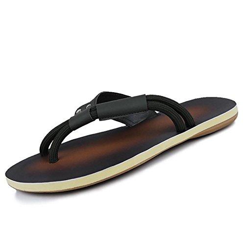 SHANGXIAN Marche de pantoufles & nu-pieds confort chaussures Casual talon noir mat jaune hommes green drag