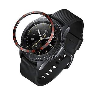Dkings 2pc Für Glaxy Watch 42 mm & Gear Sports Aluminium-Lünettenring, Lünettenabdeckung Desgin Kratzschutzwirkung, spezielle Designänderungen New Galaxy Watch Gear Sports