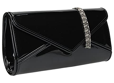 Perry Envelope Style Patent Leather Clutch Bag