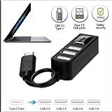 Type-C To 4-Port USB 3.0 Hub USB 3.1 Adapter For PC Apple MacBook