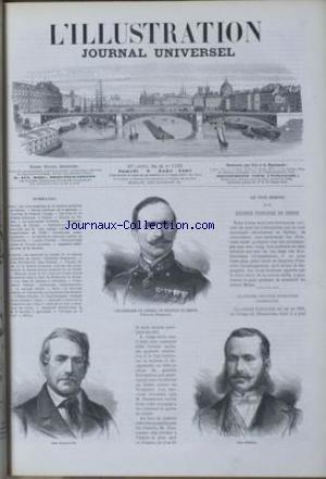 ILLUSTRATION (L') [No 1328] du 08/08/1868 - REVUE POLITIQUE - LES TROIS MEMBRES DE LA RESIDENCE PRINCIERE DE SERBIE - COURRIER DE PARIS EN VOYAGE - LES FETES DU TIR FEDERAL ALLEMAND A VIENNE - LE MOUVEMENT LITTERAIRE - CORRESPONDANCES DE SAINTES - NOUVELLE DE AUG. LEPAGE - CORRESPONDANCES DE CRETE