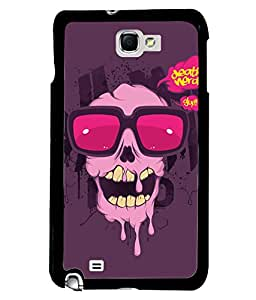 Fuson Cute Skull Back Case Cover for SAMSUNG GALAXY NOTE 1 - D3794