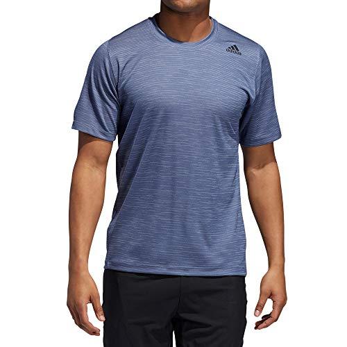 adidas Performance EB8065 Herren Shirt für Sport und Freizeit mit kleinem Logodruck Stretch, Groesse 60, Rauchblau meliert