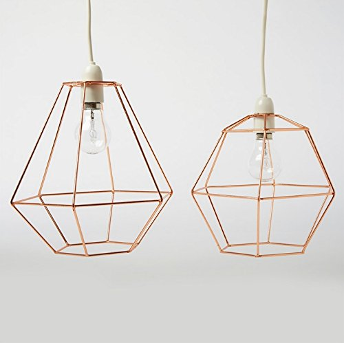 Industrial hexagon copper wire ceiling pendant light lamp shade industrial hexagon copper wire ceiling pendant light lamp shade lampshade lights greentooth Choice Image