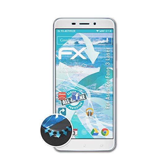 atFolix Schutzfolie passend für Asus ZenFone 3 Laser Folie, ultraklare & Flexible FX Bildschirmschutzfolie (3X)