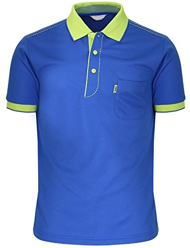 BCPOLO Männer Poloshirt Dri-Fit Short Sleeve Athletisch Polo-Shirt Blue