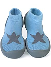 Step Ons Rubber Sole Sock Baby Shoes: for Crawling Cruising and Walking!