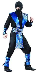 Rire Et Confetti - Fianin007 - Déguisement Pour Adulte - Costume Ninja Bleu Luxe - Homme - Taille M
