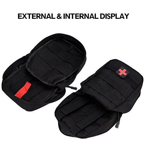 41Xm9EXuKFL - Bolsa de botiquín de Primeros Auxilios Bolsa de botiquín de Primeros Auxilios Bolsa de Utilidad médica para el Lugar de Trabajo en el hogar Camping Viajes(Black)