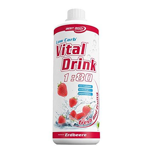 Best Body Nutrition Vital Drink Erdbeere, Getränkekonzentrat, 1000ml Flasche -