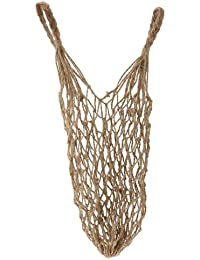 ELECTROPRIME Reusable Jute String Shopping Grocery Bag Shopper Tote Net Mesh Bag Handbag