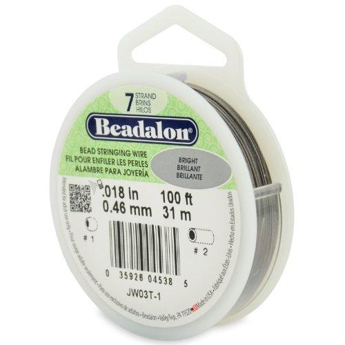 Beadalon 0,46 mm de diamètre 31 m de fil de bobine de fil 7 brins, lumineux