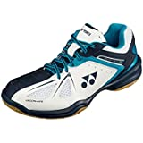 Yonex Power Cushion SHB 35Ex Polyester Badminton Shoes, UK 8 (White/Sky Blue)