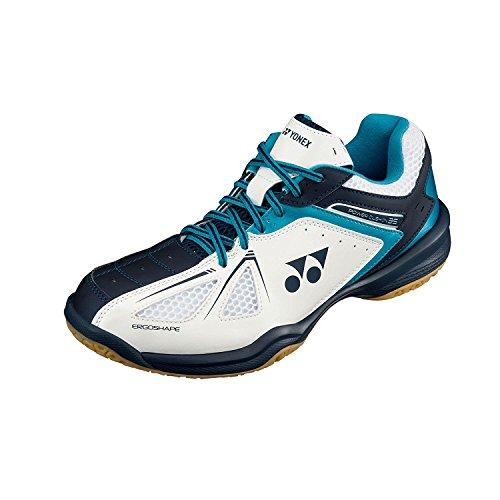 YONEX di cuscino 34 Scarpe da Badminton, Color- White/Blue, Shoe Size- 10 UK