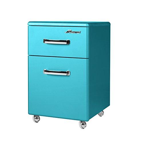 Miami 805703BL Rollcontainer mit einer Schublade und 1 Tür, Holz, blau, 40 x 36 x 61,4 cm