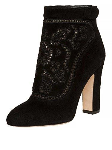 DOLCE&GABBANA Femmes Bottines cuir véritable Noir