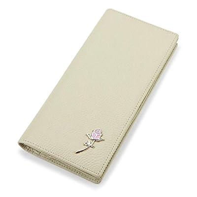 ZLR Mme portefeuille Portefeuille en cuir à la longue en cuir à la mode Portefeuille à grande capacité en peau de vachette