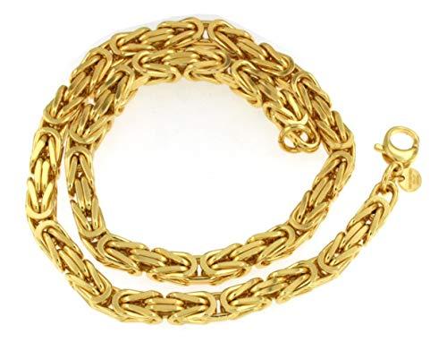 uble 8 mm Länge 90cm Halskette Goldkette Herren-Kette Damen Geschenk Schmuck ab Fabrik Italien tendenze BZGY8-90 ()