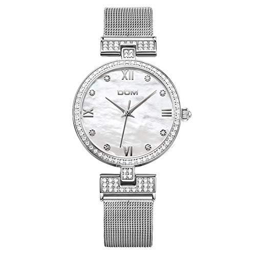 Women Es High-End Uhren Europa Und Amerika Mit Diamant Steel Mesh Riemen Wasserdichte Quarzuhr Fashion Watch (Lady Von Amerika)