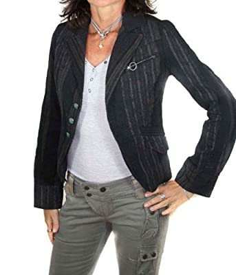 Diesel Ladies Blazer Jacket Voyer Giacca Anthracite