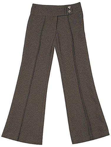 Mädchen Uniform Schule Hosen-100% Polyester 2Tasten Bootleg-Hosen-Hose school-wear, Ctrg82m, Grau (Mädchen Schule Uniform Hose)