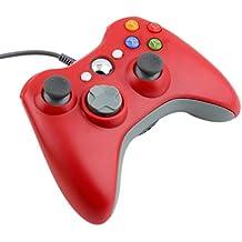 LESHP Gamepad Controller USB, Controlador Gamepad Joystick Joypad con Vibración para Xbox 360 PC Windows , color Rojo