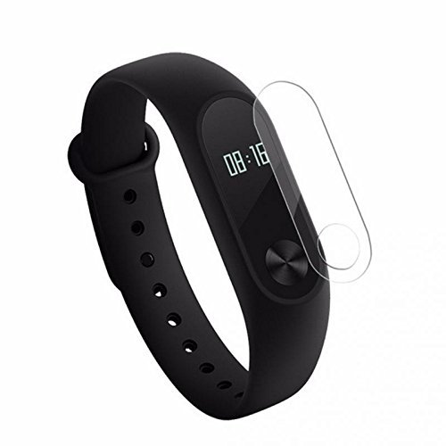 SpiderJuice, DIY Precise Edge and Sensor Cut, Front Screen Premium High Quality Scratch Guard Protector for Xiaomi MI Band 2 Smart Fitness Activity Tracker with Wet & Dry Cloth (Pack of 1 Screen Guard, Without Tracker)  available at amazon for Rs.149