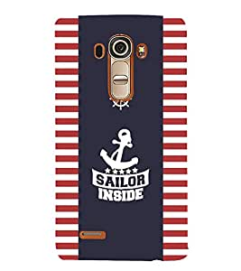 FUSON Sailor Inside 3D Hard Polycarbonate Designer Back Case Cover for LG G4 :: LG G4 Dual LTE :: LG G4 H818P H818N :: LG G4 H815 H815TR H815T H815P H812 H810 H811 LS991 VS986 US991