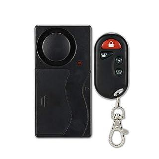 KKmoon Wireless Remote Control Vibration Alarm Home Haus Sicherheit Tür Fenster Auto Sensor-Detektor