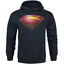 Hombres - Official - Man Of Steel - Capucha, azul, XX-Large