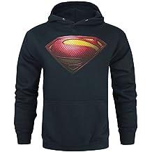 Official Superman Man Of Steel Logo Men's Hoodie (S)