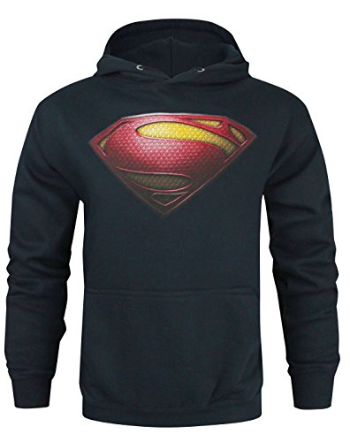 Official Superman Man Of Steel Logo Men's Hoodie (S)
