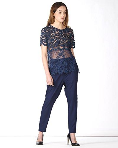 SilvianHeach Donna T-shirt Chiarelli Maglia Maglietta Top Manica Corta Blu M