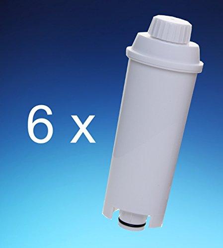 6 x Filterpatrone AquaCrest für Delonghi komp. SER3017 DLS C002 551329811