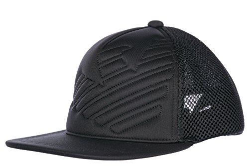 Emporio Armani Kappe verstellbar Herren Baseball Cap Basecap hut Schwarz