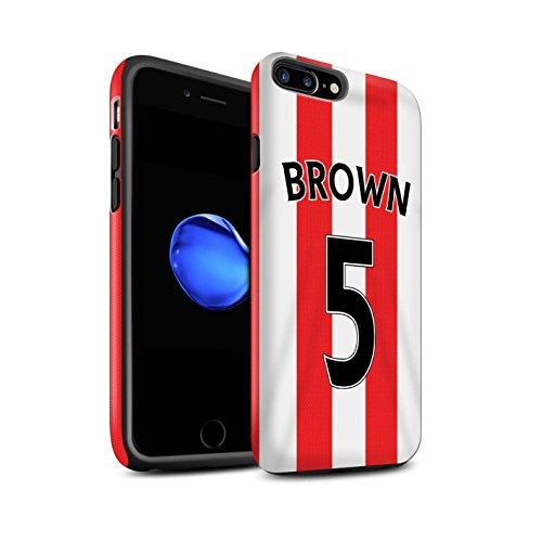 Offiziell Sunderland AFC Hülle / Matte Harten Stoßfest Case für Apple iPhone 7 Plus / Kone Muster / SAFC Trikot Home 15/16 Kollektion Brown