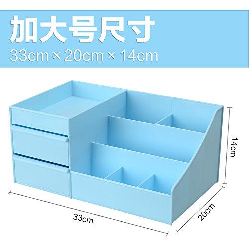 u-emember Cosmetics, zu den großen Kunststoff Schreibtisch Schublade Hautpflege Vanity Lippenstift Racks Organisieren Boxen, blau (XL) (Metall-lippenstift-rack)