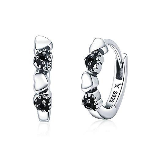 LVYE1 S925 Silberohrringe Hypoallergen Diamant-Herzform Mode Persönlichkeit 925 Sterling Silber Damen Ohrringe Geschenk Für Mädchen