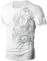 Camisas de hombre manga corta , Amlaiworld Camiseta de impresión de moda de verano para hombres Camisa Casual…