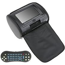 MagiDeal Reposacabeza de Coche Multimedia con Monitor de Televisión Radio DVD LCD de 7 Pulgadas - Negro