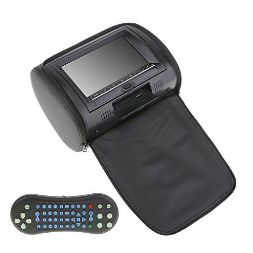 Generic 7 Zoll Kopfstützen Auto Kopfstütze LCD DVD Player Radio TV Bildschirm, Farbe Auswaelbar - Schwarz