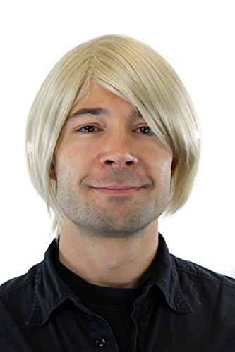 Herrenperücke Mittellang blond Seitenscheitel (Mittellang Blonde Perücken)