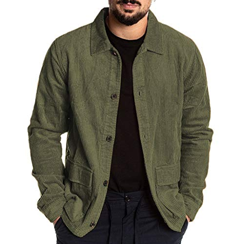serliyHerren Hemd Langarm Regular Fit Casual Cordhemd aus Baumwolle Basic Jeansshirt, Langarm, Normale Passform, mit Stehkragen