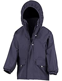 New Result Rugged Stuff Junior Long Lined Long Coat Zip Front Jacket XS-3XL