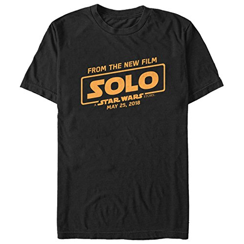Solo: A Star Wars Story Men's from New Film Logo Black T-Shirt -
