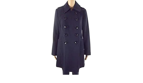 EX-Branded Navy Attraverso Button cappotto militare