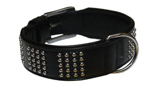 """Nobby Leder Halsband  \""""VINTO\"""" schwarz 60 cm (53-58 cm); 50 mm"""