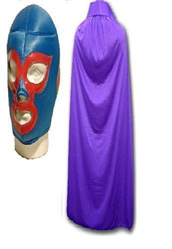 Nacho Libre Maske Fancy Kleid lila Cape Erwachsene mexikanischen Wrestlers Mexican (Libre Nacho Masken)